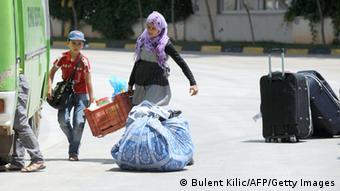 Refugees at the Syria-Turkey border