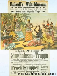 An 1883 advertisement for a show organized by Carl Hagenbeck