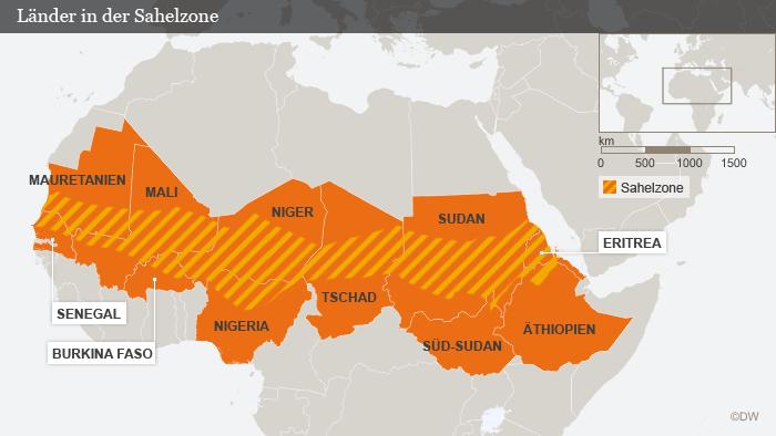 Karte Afrika Sahelzone DEU deutsch