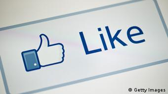 The Like button on Facebook