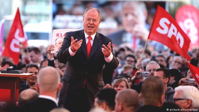 Do t'i mbajë larg të majtët - kandidati socialdemokrat Peer Steinbrück