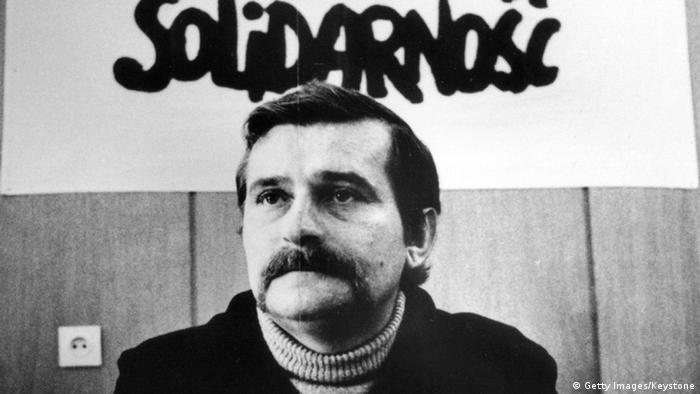 Lech Walesa als Gewerkschaftsführer in den 1980er Jahren
