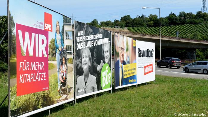 Bundestagswahl 2013 Wahlplakate SPD Grüne Linke FDP
