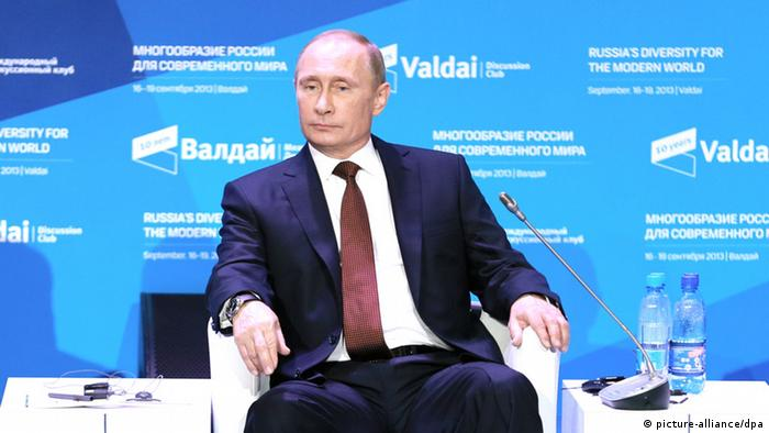 Russland Präsident Putin bei internationalem Diskussionsforum (picture-alliance/dpa)