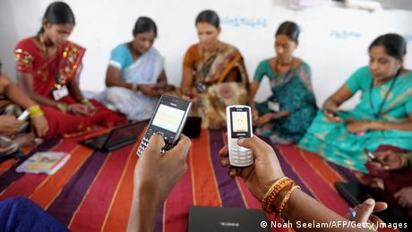 Indien Handy Smartphone Nutzung