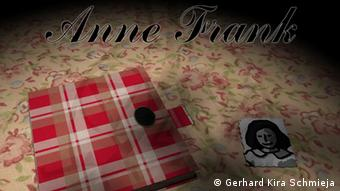 The title page of the computer game Anne Frank, showing her diary and a portrait of her avatar Copyright: Gerhard Kira Schmieja ### Achtung: Nur im Zusammenhang mit der Berichterstattung über dieses Spiel zu verwenden! ###