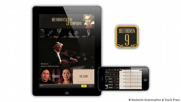 Screenshot der App Beethoven's 9th