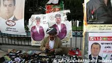 Irak Kurdistan Regionalwahlen Wahlplakate in Erbil