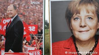 Angela Merkel et Peer Steinbrück, les deux principaux adversaires