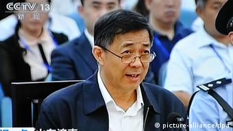In this TV grab taken on 22 September 2013, Bo Xilai, former Secretary of the Chongqing Municipal Committee of the Communist Party of China (CPC), speaks during a trial at the Jinan Intermediate Peoples Court in Jinan city, east Chinas Shandong province. A Chinese court has sentenced former leading politician Bo Xilai to life in prison after finding him guilty on charges of graft, accepting bribes and abuse of power. The Jinan Intermediate Peoples Court announced the verdict against Bo on Sunday (22 September 2013).