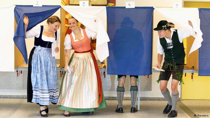 Bundestagswahl Deutschland 22.09.2013 Wahllokal Bayern