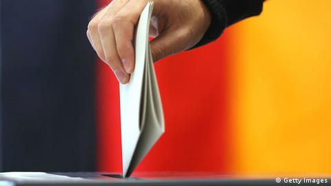 A German voter casting a ballot (Getty Images)