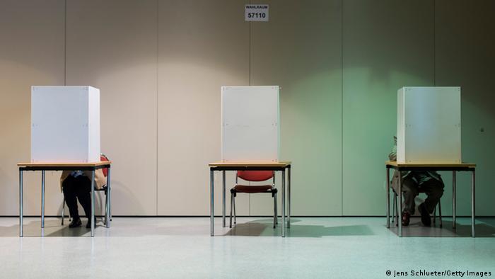 Wahlraum am Tag der Bundestagswahl 22.09.2013