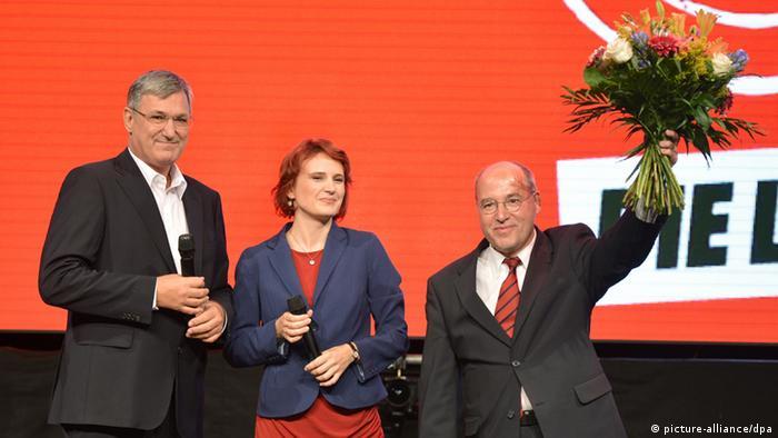 Глава левых Грегор Гизи и его соратники