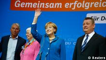Bundestagswahl Reaktion Angela Merkel CDU Parteizentrale