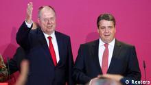 Bundestagswahl Reaktion Steinbrück Gabriel Parteizentrale