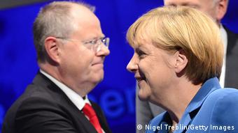 Bundestagswahl Peer Steinbrück Angela Merkel Elefantenrunde