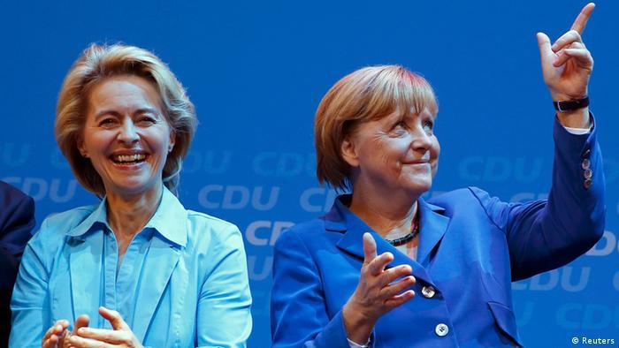 Bundestagswahl Angela Merkel Ursula von der Leyen