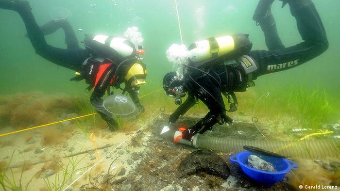 Buzos descubren restos de asentamientos en el fondo del Mar Báltico.