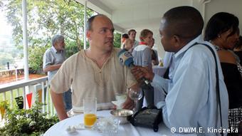 Uwe Jung from the Goethe-Institute in Cameroon Photo: Moki Edwin Kindzeka (DW correspondent)