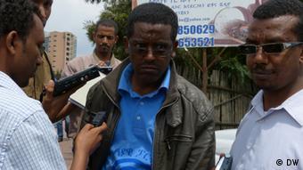 Demonstration der Semayawi-Partei (Blaue Partei), 22.09.2013 Addis Ababa, Äthiopien Thema: Die junge Semayawi-Partei hat sich an die Spitze der Potestbewegung in Addis Ababa gesetzt.  *** Copyright: DW/September 2013