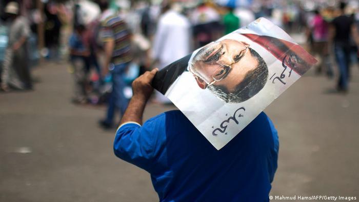 Ägypten Muslimbrüder Mursi Plakat Fahne Demonstration