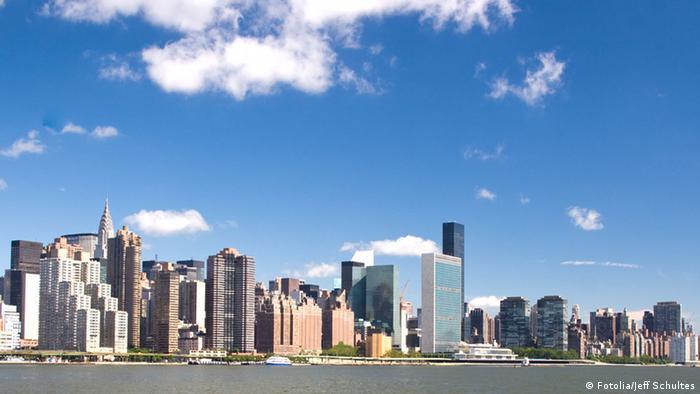 Bildergalerie UN Hauptquartier New York Gebäude Manhattan Skyline