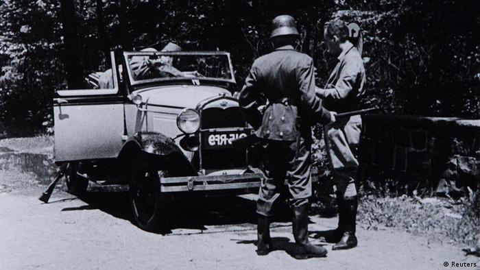 Imagem de um filme de 1934 sobre a ocupação da Bélgica pelos nazistas