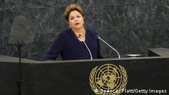 Rousseff speaks at the United Nations Photo by Spencer Platt/Getty Images