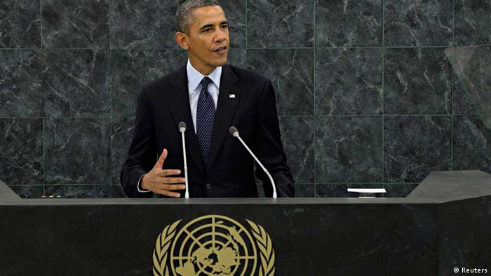 United States President Barack Obama addresses the 68th United Nations General Assembly in New York, September 24, 2013. REUTERS/Andrew Burton/Pool (UNITED STATES - Tags: POLITICS)