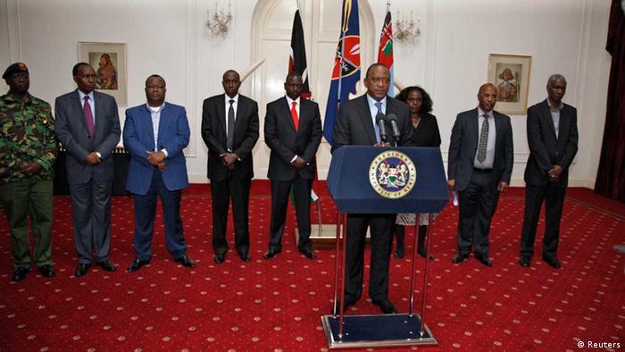 Uhuru Kenyatta and members of his cabinet