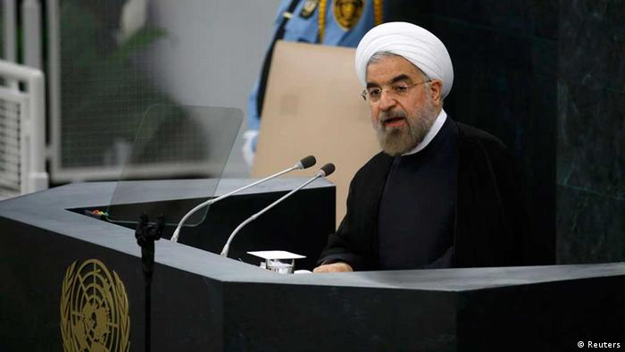 Iran's President Hassan Rouhani addresses the 68th United Nations General Assembly at UN headquarters in New York, September 24, 2013. REUTERS/Ray Stubblebine (UNITED STATES - Tags: POLITICS) / Eingestellt von wa