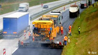Work being done on an Autobahn