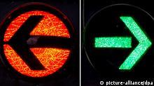 Symbolbild Koalitionsverhandlungen schwarz grün rot