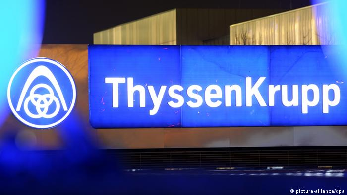 ThyssenKrupp Logo (picture-alliance/dpa)