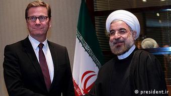 Bundesaußenminister Guido Westerwelle (l.) mit Irans Präsident Hassan Rohani (Foto: k.A.)