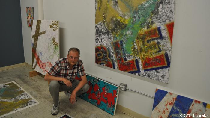 Rainer Gross in his New York atelier, Copyright: DW/S. Shahrigian
