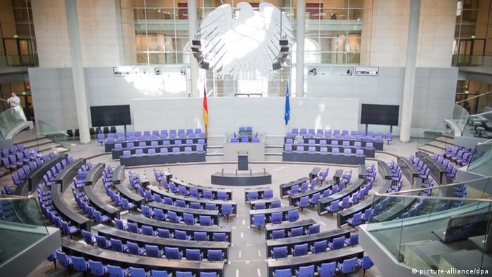 Leerer Plenarsaal im Bundestag (picture-alliance/dpa)