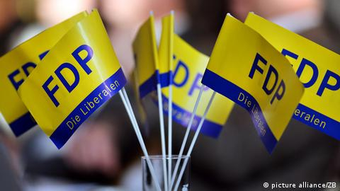 FDP-Fahnen (picture alliance/ZB)