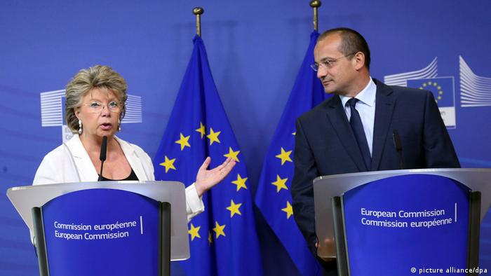 Orsat Miljenić s europskom povjerenicom za pravosuđe Viviane Reding u Bruxellesu