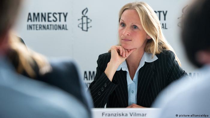 Amnesty International Franziska Vilmar PK