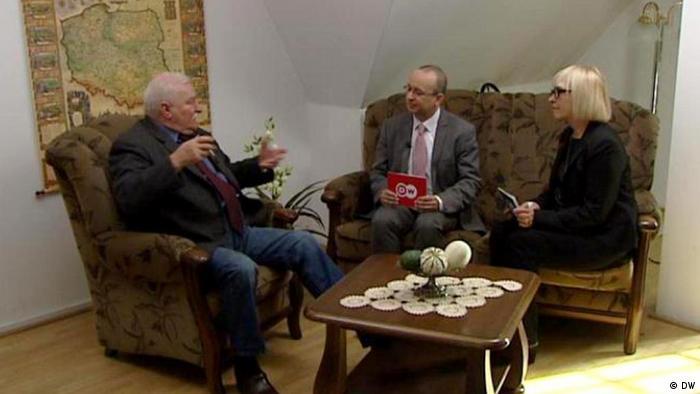 DW Interview mit Lech Wałęsa
