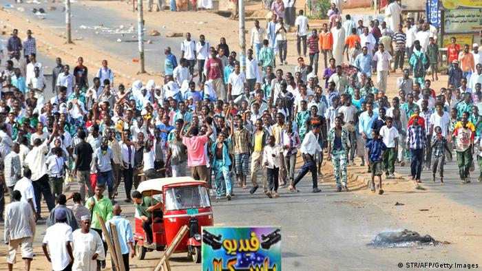GettyImages 181773063 Sudanese protestors demonstrate in Khartoum's twin city of Omdurman after the government announced steep price rises for petroleum products after suspending state subsidies as part of crucial economic reforms on September 25, 2013. Oil prices at the pump have shot up to 20.8 Sudanese pounds ($4.71) a gallon from 12.5 pounds ($2.83), while diesel has risen from 8.5 pounds a gallon to 13.9 pounds. AFP PHOTO / STR (Photo credit should read STR/AFP/Getty Images)