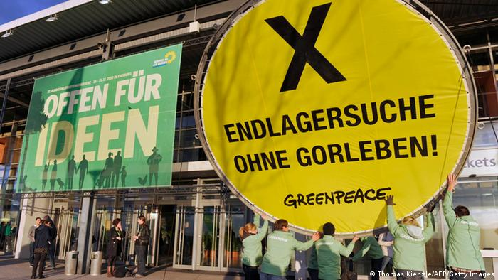 Greenpeace-Aktion gegen ein mögliches Endlager Gorleben (Archivbild: dpa)