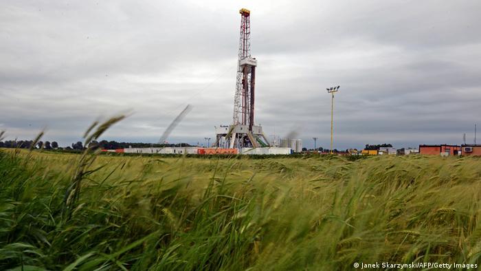Буровий пристрій для видобутку сланцевого газу у Польщі