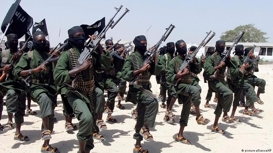 Somalia Terror Shabaab Kämpfer tranieren bei Mogadishu