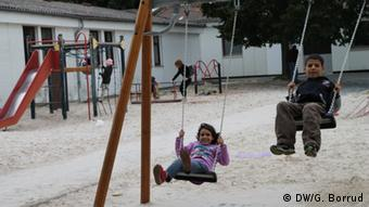 Camp of Syrian refugees in Germany (Photo: DW/G. Borrud)