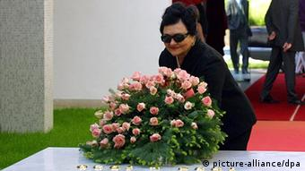 epa03834905 (FILE) A file picture dated 04 May 2000 of Jovanka Broz, widow of former Yugoslav leader Josip Broz Tito, laying a wreath at the grave on the occation of 20th anniversary of Tito's death on a cemetery in Belgrade, Serbia. Broz was hospitalized on 23 August 2013 and is in critical condition, according to doctors. The 88-year-old is being treated in intensive care after being taken to hospital in a state of semi-consciousness. EPA/SRDJAN SUKI