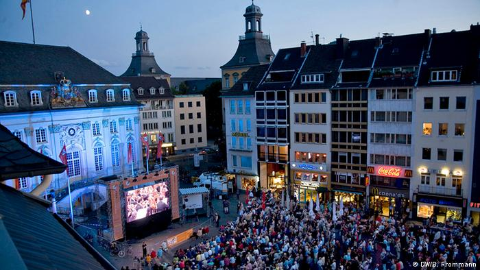 Рыночная площадь Бонна во время прямой трансляции Фиделио