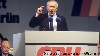 Heiner Geissler speaking in 1987 (c) picture-alliance